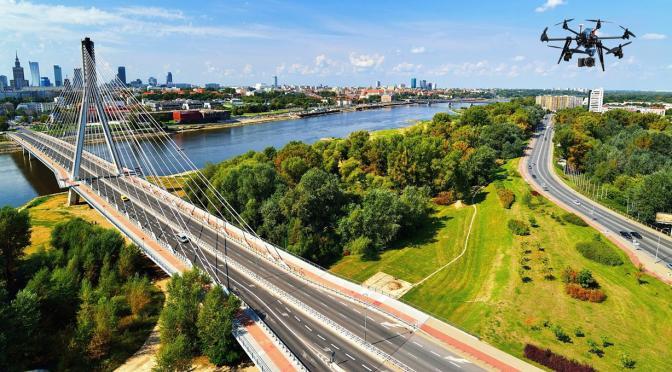 Filmowanie z powietrza dzięki dronom w Płocku